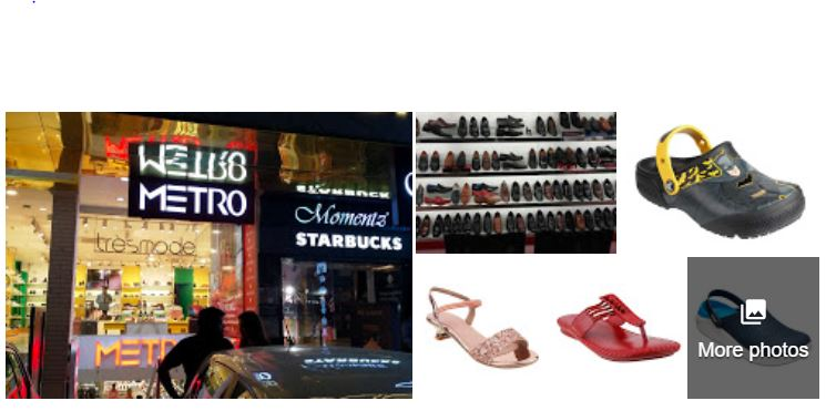 Screenshot of photos uploaded to GMB for metro shoes company to show how GMB can be used to improve local presence