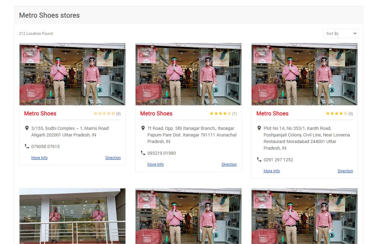 Metro Shoes All Store Locations on website.